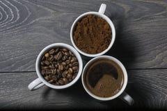 Café triple de mélange image libre de droits