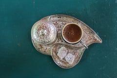 Café turc à partir du dessus Images libres de droits