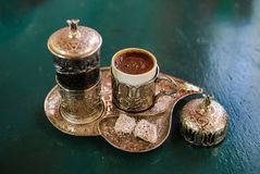 Café turc à partir du dessus Photo libre de droits