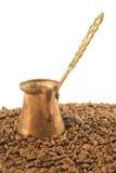 Café turc Cezve ou Ibrik images stock