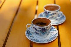 Café turc et tasses de café Images stock