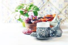 Café turc traditionnel café dans le vintage oriental de style Images libres de droits