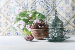 Café turc traditionnel café dans le vintage oriental de style Photo libre de droits