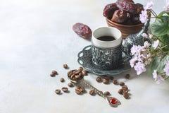Café turc traditionnel café dans le vintage oriental de style Photographie stock