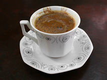 Café turco con espuma Fotos de archivo libres de regalías