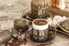 Café turco con placer turco imagen de archivo libre de regalías