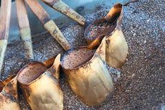 Café turco de cobre preparado com Fotos de Stock