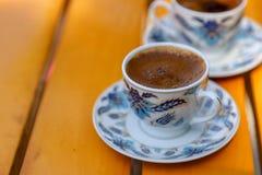 Café turco e copos de café Imagem de Stock Royalty Free