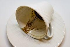 café turco e fortuna do café no copo fotos de stock royalty free