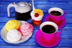 Café turco e loukoum na tabela Imagens de Stock