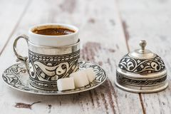 Café turco tradicional Imagenes de archivo