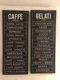 Café und gelati stockbilder
