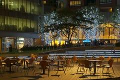 Café vacío de la calle Imágenes de archivo libres de regalías
