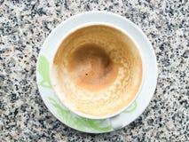 café vacío en una taza imagen de archivo libre de regalías