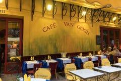 Café Van Gogh bei Place du Forum in Arles Provence, stockfoto