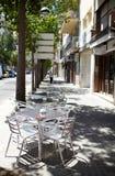 Café vazio da rua Imagens de Stock