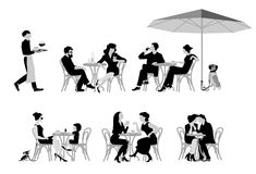 Café stock illustration