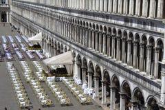 Café Venecia Italia de la Plaza de San Marcos Foto de archivo