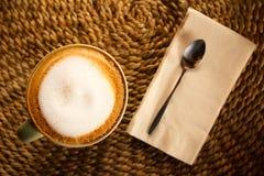 café verde de la taza Fotografía de archivo