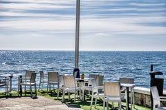 Café vide de plage Photos libres de droits