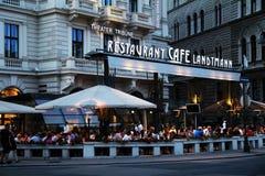 Café viennois célèbre Landtmann Image libre de droits