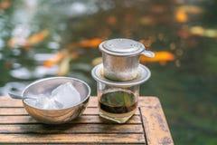Café vietnamiano com leite condensado fotos de stock