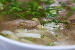 Café vietnamiano do stree Sopa de macarronete FO Imagens de Stock Royalty Free
