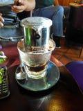 Café vietnamita del goteo Foto de archivo