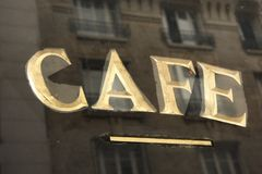 Café w Paris Obraz Stock
