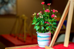 Café, wo Sie Farben zeichnen können Stockbilder