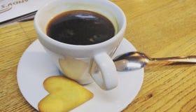 Café y amor Fotografía de archivo libre de regalías