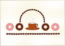 Café y anillos de espuma stock de ilustración