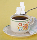 Café y azúcar Imagen de archivo libre de regalías