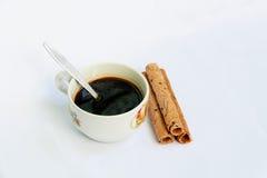 Café y bocados imagenes de archivo