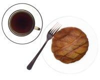 Café y bollo Imagenes de archivo