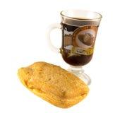 Café y bollo Imagen de archivo libre de regalías