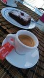 Café y brownie Foto de archivo