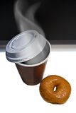 Café y buñuelo Foto de archivo