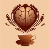 Café y cerebro Fotos de archivo