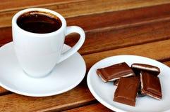 Café y chocolate imágenes de archivo libres de regalías