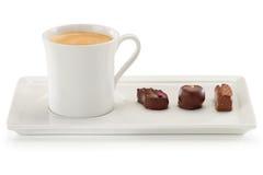 Café y chocolate Imagen de archivo libre de regalías
