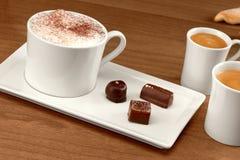 Café y chocolate Foto de archivo libre de regalías