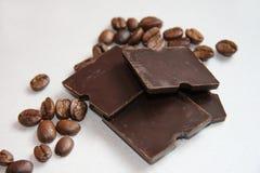 Café y chocolate Fotografía de archivo libre de regalías