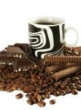 Café y chocolate Fotografía de archivo