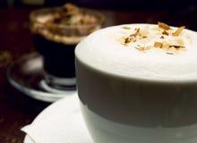 Café y chocolate del Cappuccino Foto de archivo libre de regalías