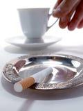 Café y cigarrillos Fotografía de archivo