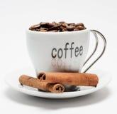 Café y cinamomo Fotografía de archivo libre de regalías