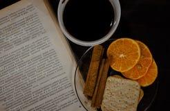Café y cinamomo Fotos de archivo