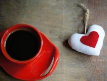 Café y corazón Fotos de archivo libres de regalías