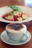 Café y crepes imagen de archivo libre de regalías